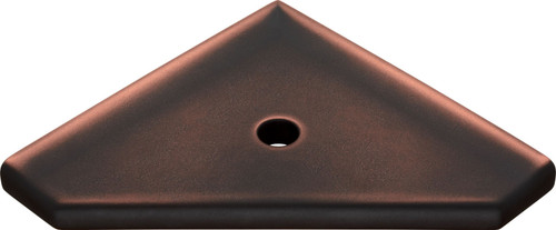 "Geo Lugged Dark Oil-Rubbed Bronze Matte Corner Shelf 8"" (MBA193-070)"