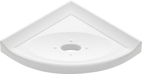 "Metro Lugged Bright White Matte Corner Soap Dish 5"" (SBA11267)"