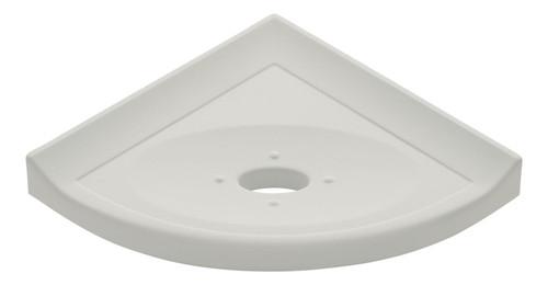 "Metro Lugged Gray Polished Corner Soap Dish 5"" (SBA11321)"