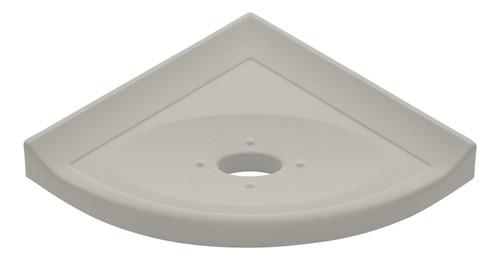 "Metro Lugged Gray Matte Corner Soap Dish 5"" (SBA11212)"