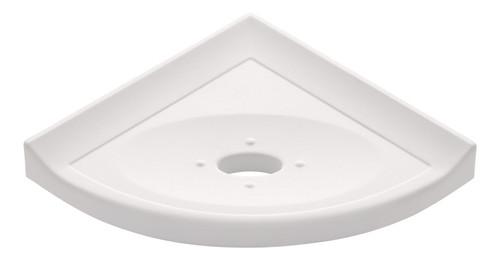 """Metro Lugged White Polished Corner Soap Dish 5"""" (SBA11313)"""
