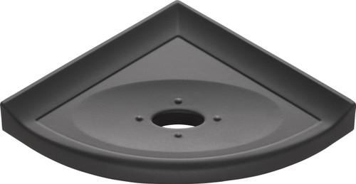 "Metro Lugged Graphite Matte Corner Soap Dish 5"" (MBA112086)"
