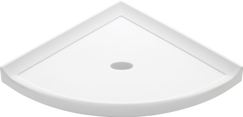 """Metro Lugged Bright White Polished Corner Shelf 8"""" (SBA11523)"""