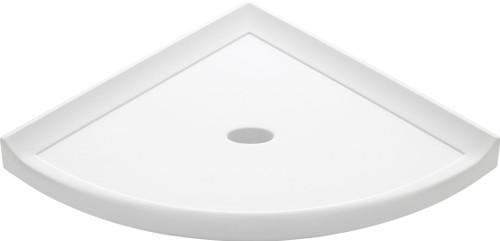"Metro Lugged Bright White Matte Corner Shelf 8"" (SBA11467)"