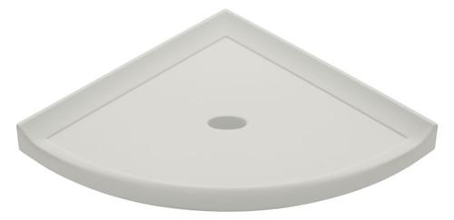 "Metro Lugged Gray Polished Corner Shelf 8"" (SBA11521"