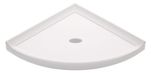 """Metro Lugged White Polished Corner Shelf 8"""" (SBA11513)"""