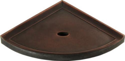 "Metro Lugged Dark Oil-Rubbed Bronze Matte Corner Shelf 8"" (SBA114070)"