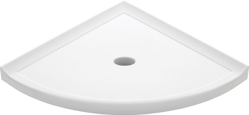 "Metro Lugged Bright White Matte Corner Shelf 10"" (SBA11667"