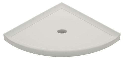 "Metro Lugged Gray Polished Corner Shelf 10"" (SBA11721)"
