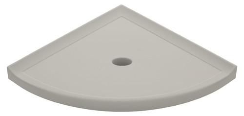 "Metro Lugged Gray Matte Corner Shelf 10"" (SBA11612)"