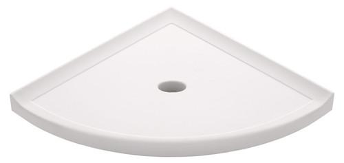 """Metro Lugged White Polished Corner Shelf 10"""" (SBA11713)"""
