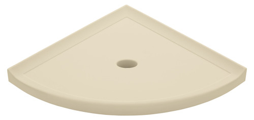 "Metro Lugged Sand Matte Corner Shelf 10"" (SBA11603)"