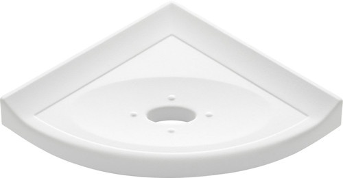 "Metro Retrofit Bright White Polished Corner Soap Dish 5"" (SBA15723)"