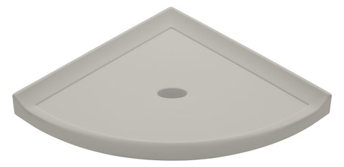 "Metro Retrofit Gray Matte Corner Shelf 8"" (SBA15512)"
