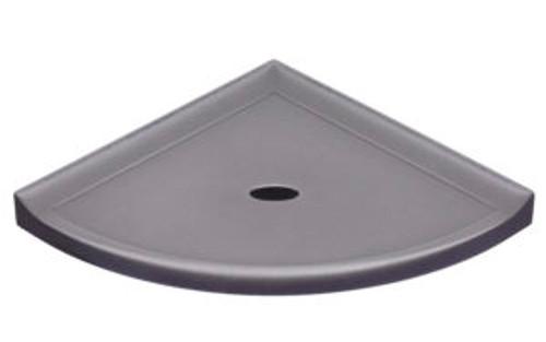 """Metro Retrofit Brushed Nickel Matte Corner Shelf 8"""" (SBA154024)"""