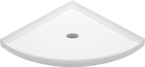 "Metro Retrofit Bright White Matte Corner Shelf 10"" (SBA15367)"