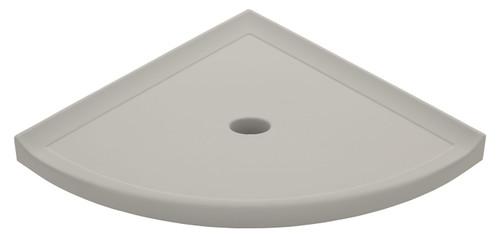 "Metro Retrofit Gray Matte Corner Shelf 10"" (SBA15312)"