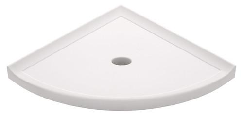"Metro Retrofit White Polished Corner Shelf 10"" (SBA15313)"