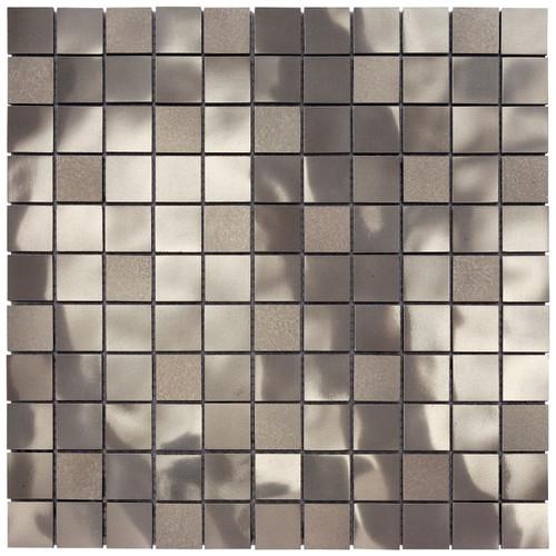 Starlite Brushed Nickel Mosaic 1x1 (MOSA100003)