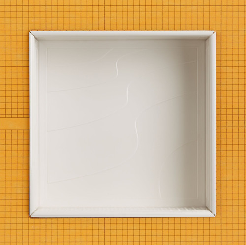 Waves Polished White 12x12 Niche (SNCH75313)