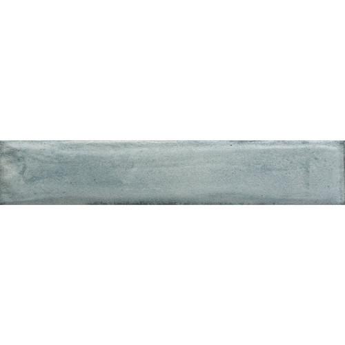 Frammenti Azzurro Glossy Brick Wall Tile 3x16 (74FR02)