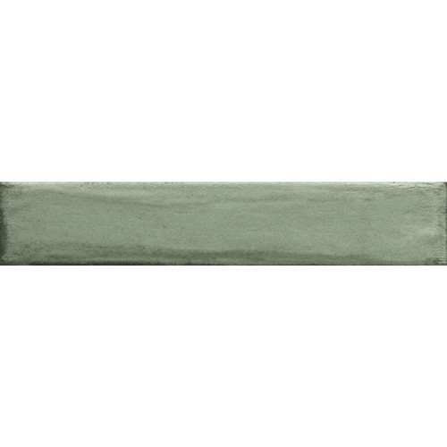 Frammenti Verde Acqua Glossy Brick Wall Tile 3x16 (74FR04)