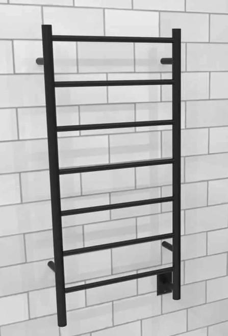 Jeeves F Straight Matte Black Heated Towel Rack 21.25 x 41.75 (CMB)