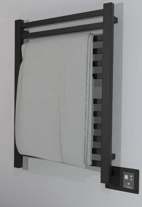 Quadro Q 2033 Matte Black Heated Towel Rack 24.375 x 35.375 (Q2033MB)