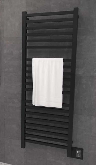 Quadro Q 2054 Matte Black Heated Towel Rack 24.375 x 56.625 (Q2054MB)