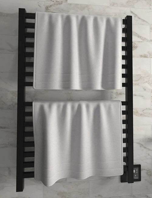 Quadro Q 2842 Matte Black Heated Towel Rack 32.25 x 44.75 (Q2842MB)