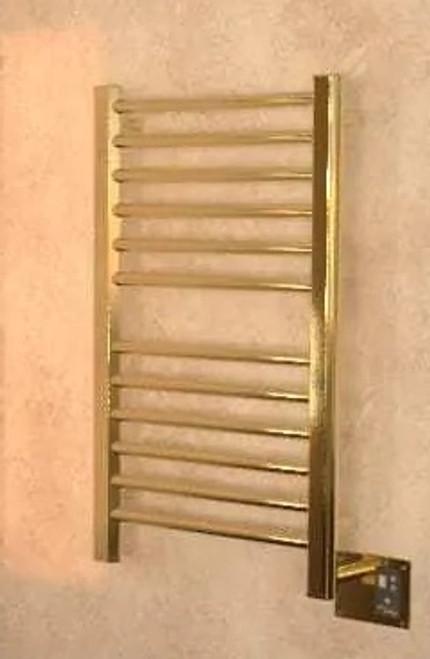 Sirio S-2133 Satin Brass Heated Towel Rack 24.625 x 35.375 (S2133SB)