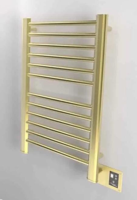 Sirio S-2933 Satin Brass Heated Towel Rack 32.5 x 35.125 (S2933SB)