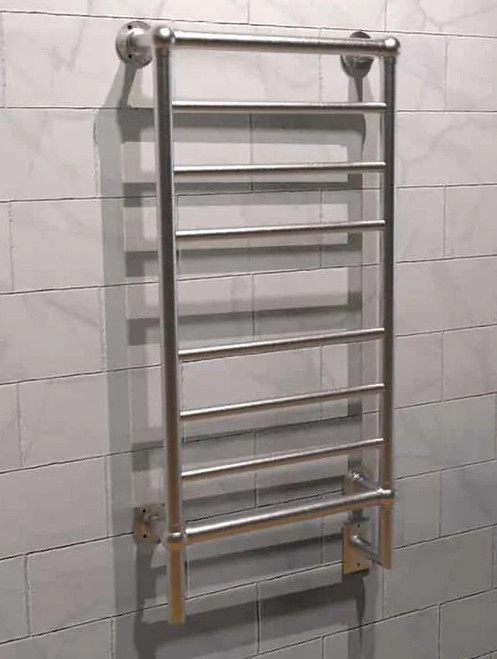 Traditional T-2040 Brushed Nickel Heated Towel Rack 21 x 43.25 (T2040BN)