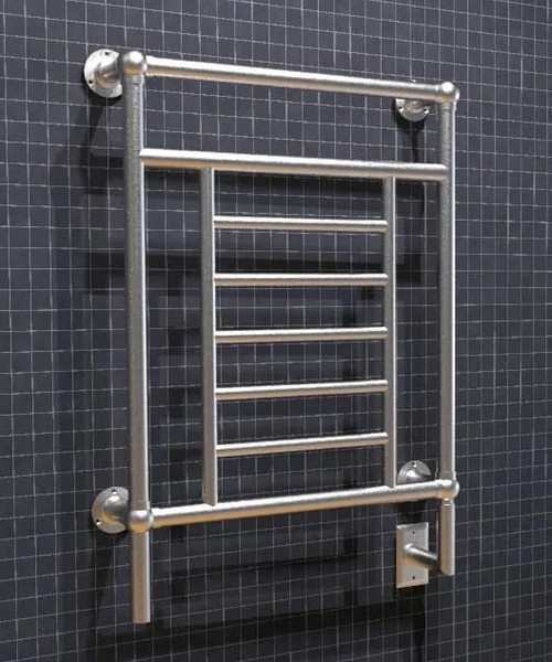 Traditional T-2536 Brushed Nickel Heated Towel Rack 25.25 x 35.25 (T2536BN)