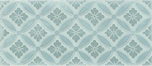 Maiolica Chantilly Arabella Aqua Deco 4x10 (CHAW628-ARB)
