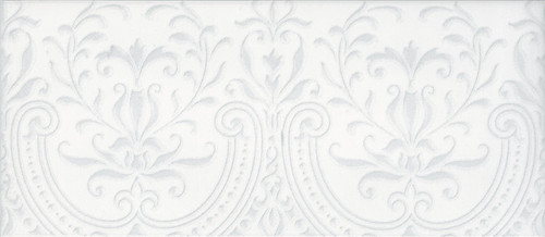 Maiolica Chantilly Alencon White Deco 4x10 (CHAW081-ALN)