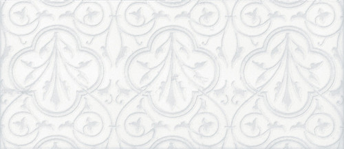 Maiolica Chantilly Venetian White Deco 4x10 (CHAW081-VNT)