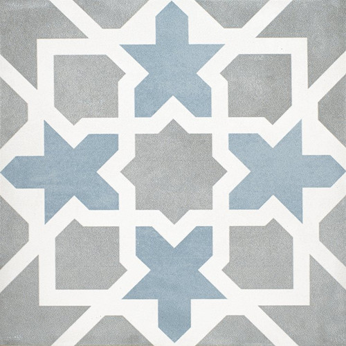 Maiolica Pattern T. Gray Matte 8x8 Floor Tile (MAIDF261-88)