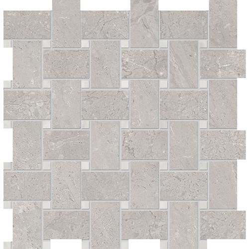 Velvet Grey Matte Porcelain Basketweave 12x12 Sheet (NA85)