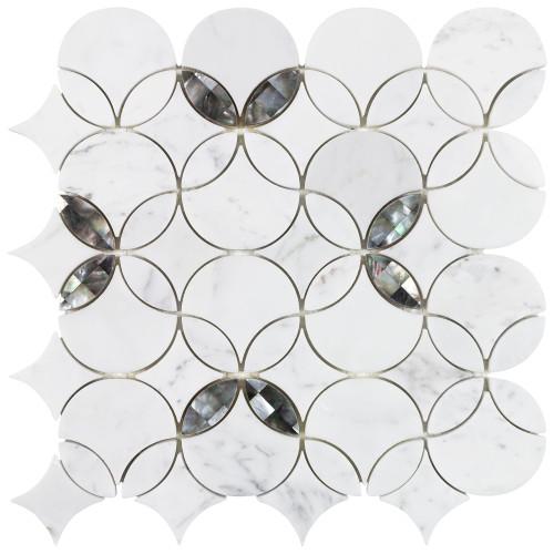 Panache Filigree Pearl Mosaic 13x13 Sheet (ANTHPAFP)