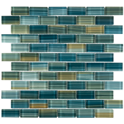 Splash Neptune Emerald Mosaic 1x2 (ANTHSPNE12)