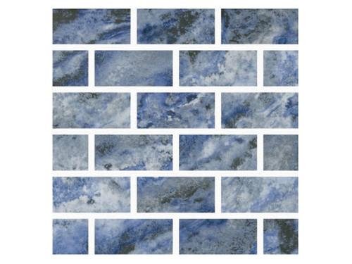Mountains Alps Porcelain 1x2 Mosaic (MOUNALPS12MOS)