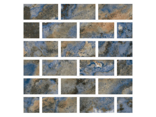 Mountains Rockies Porcelain 1x2 Mosaic (MOUNROCKIES12MOS)