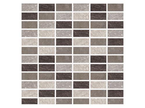 Stone Age Blend Porcelain Straight Joint 1x2 Mosaic (STOBLENDMOS2)
