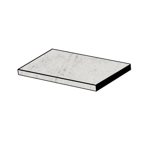 Frontier20 Michelangelo Extra White Grip Flat Front Pool Coping and Stair 12x24 (2 PCS) (610130004422)