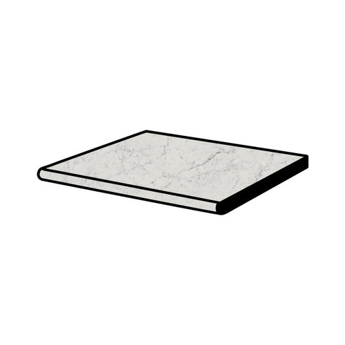 Frontier20 Michelangelo Extra White Grip Bullnose Coping and Stair 12x24 (2 PCS) (610130004384)