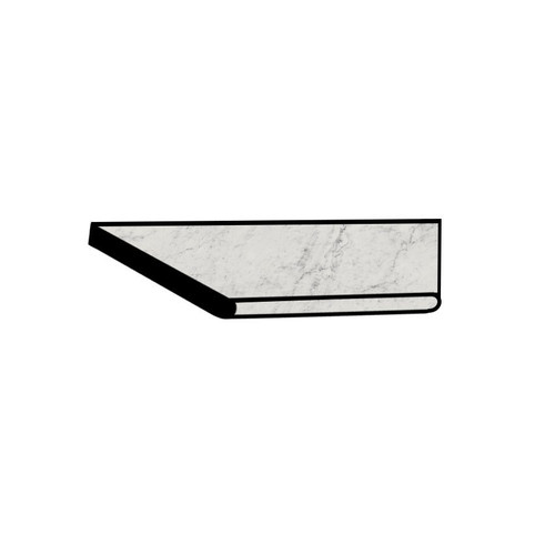 Frontier20 Michelangelo Extra White Grip Bullnose Right Corner Coping 12x24 (2 PCS) (610130004412)