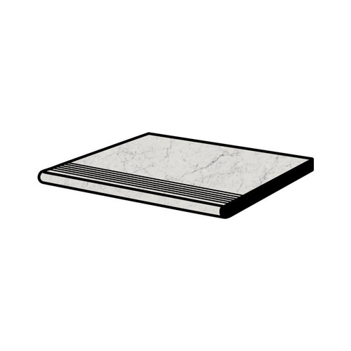 Frontier20 Michelangelo Extra White Grip Bullnose Pool Coping and Stair with Tread 12x24 (2 PCS) (610130004477)