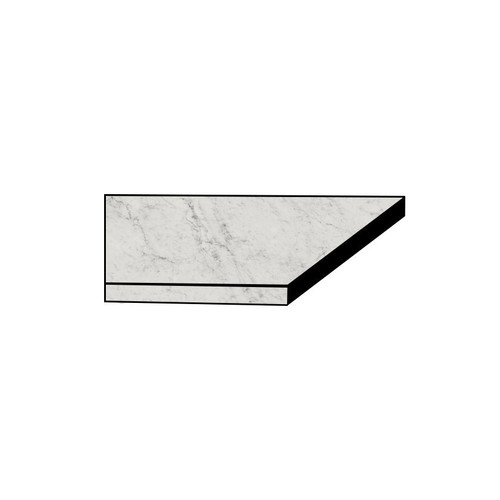 Frontier20 Michelangelo Extra White Grip Flat Front Left Corner Coping 12x24 (2 PCS) (610130004432)