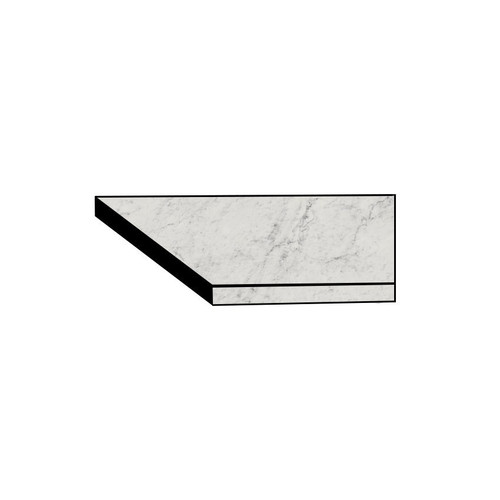Frontier20 Michelangelo Extra White Grip Flat Front Right Corner Coping 12x24 (2 PCS) (610130004442)